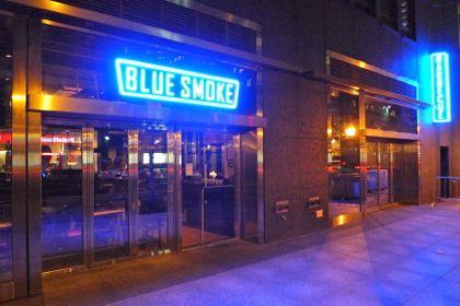 blue smoke facade