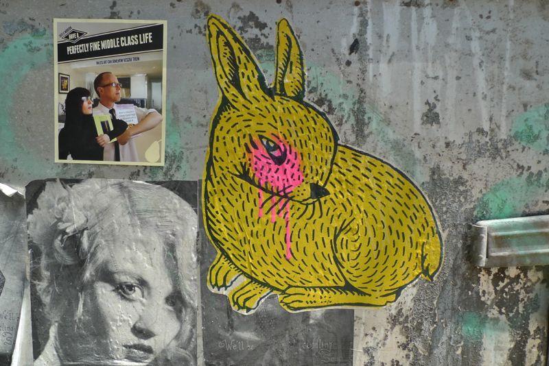 street art yellow rabbit lispenard 71212