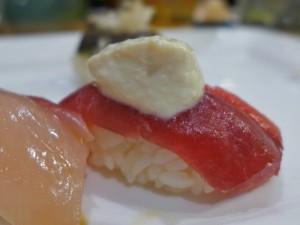 sushi of gari tribeca fish with glob