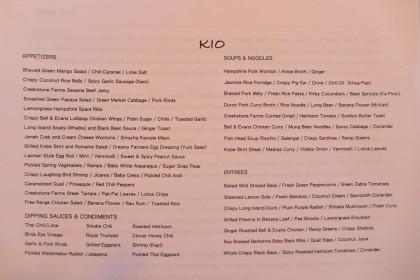 kio menu
