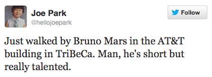 tweet bruno mars