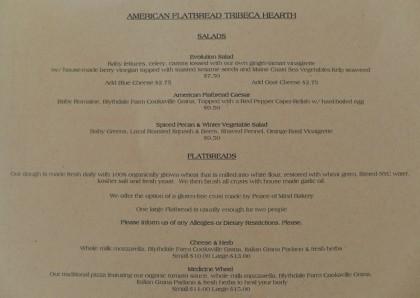 American Flatbread Tribeca Hearth menu1