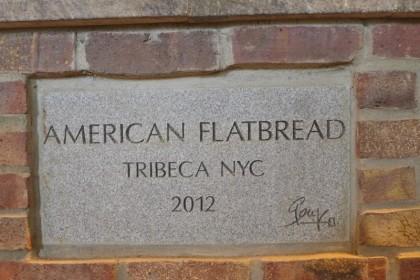 American Flatbread Tribeca Hearth plaque