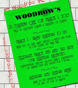 Woodrows anniversary