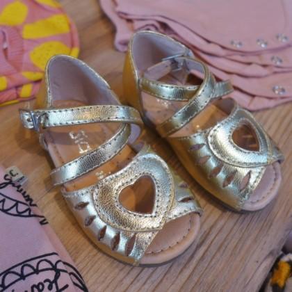 My Little Sunshine gold sandals