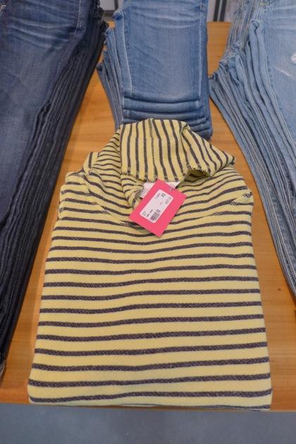 Gloria Jewel striped turtleneck