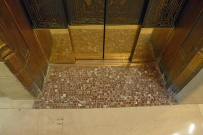 Woolworth Building elevator transom