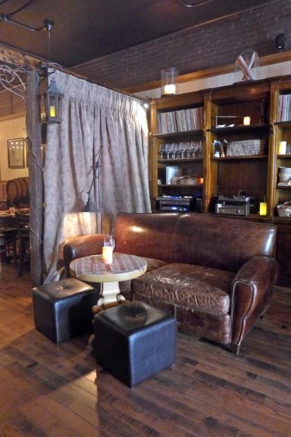The Greek lounge area