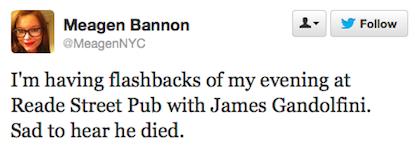 tweet Gandolfini Reade Street Pub