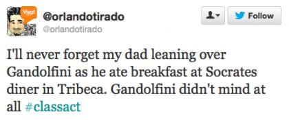 tweet Gandolfini Socrates