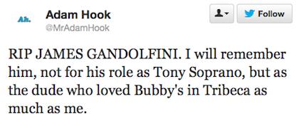 tweet Gandolfini bubbys