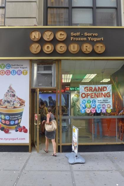 NYC Yogurt facade