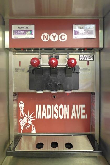 NYC Yogurt machine