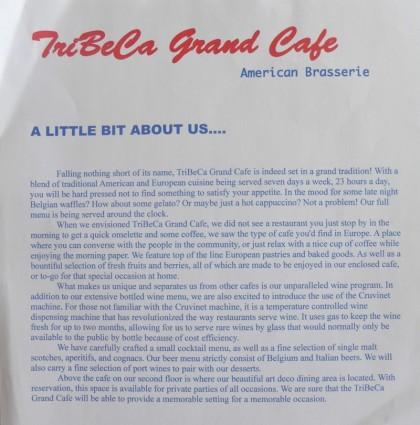 Tribeca Grand cafe description
