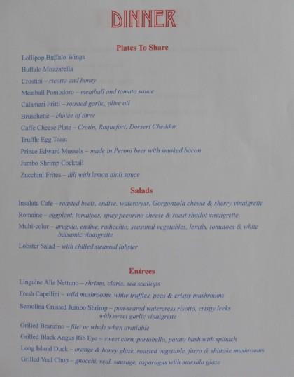 Tribeca Grand cafe menu3