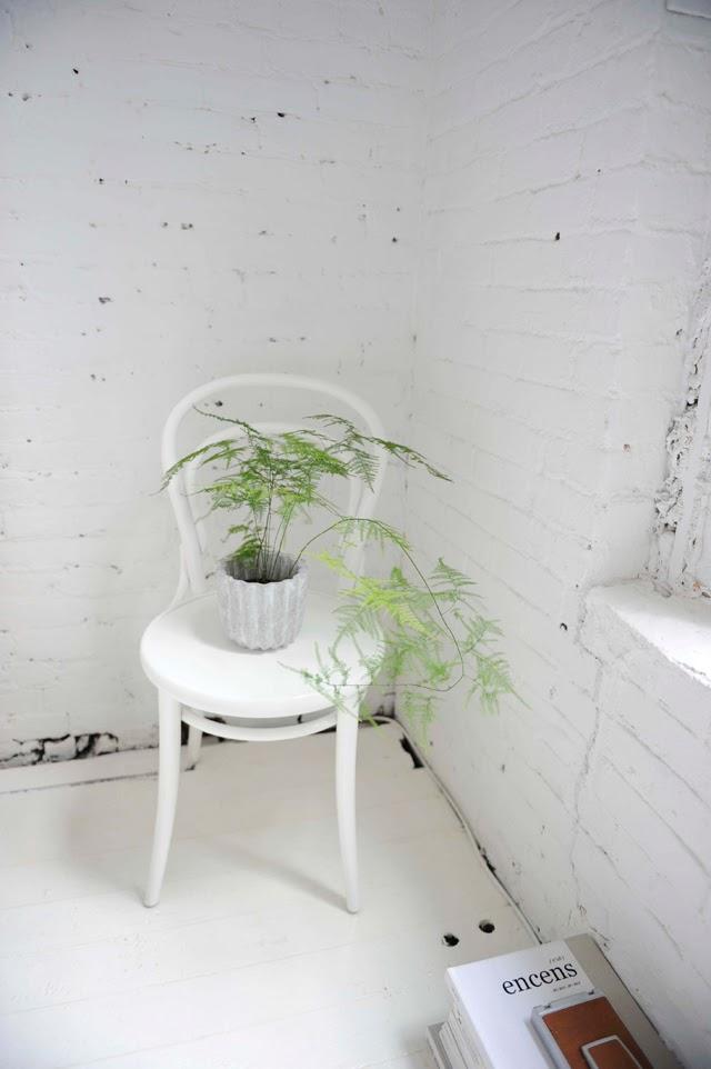 Gillian Tennant bedroom chair with fern