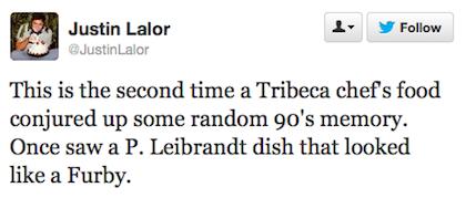 tweet Paul Liebrandt furby