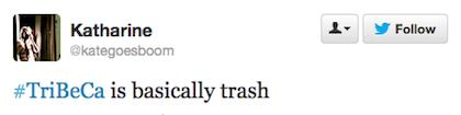tweet basically trash