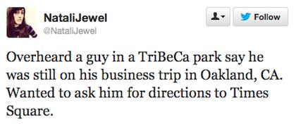 tweet business trip