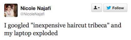 tweet inexpensive haircut