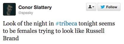 tweet look like Russell Brand