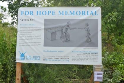 FDR Hope Memorial sign
