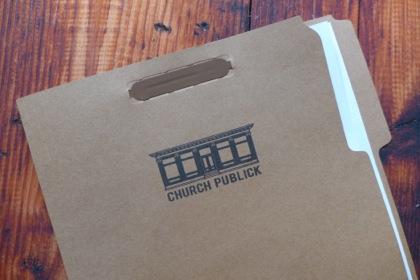 Church Publick menu folder