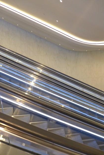 escalator back down to passageway