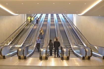 escalators to Brookfield Place