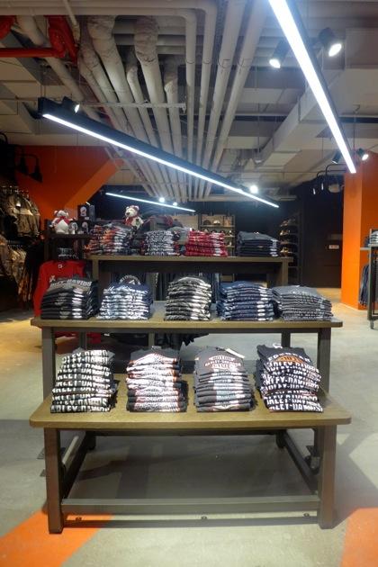 Harley-Davidson of NYC clothing downstairs