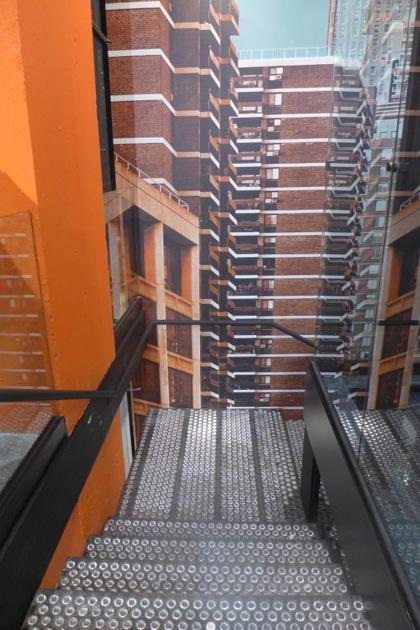 Harley-Davidson of NYC stairwell