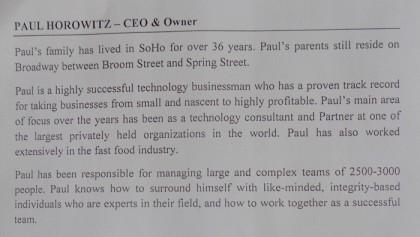 Paul Horowitz of haus bio