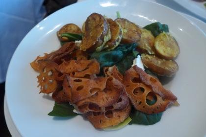 Tamarind Tribeca Lotus Room salad