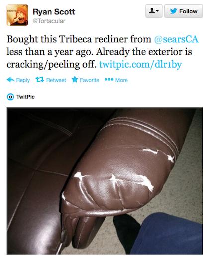 Tribeca recliner tweet