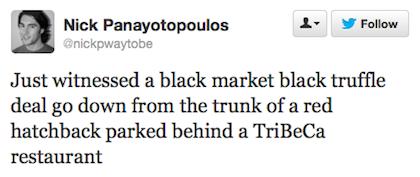 tweet black market truffle