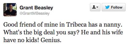 tweet friend has a nanny