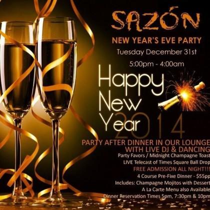 Sazon NYE invite