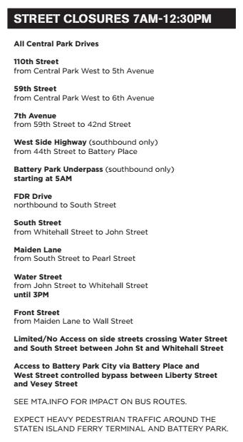 2014 half marathon road closures