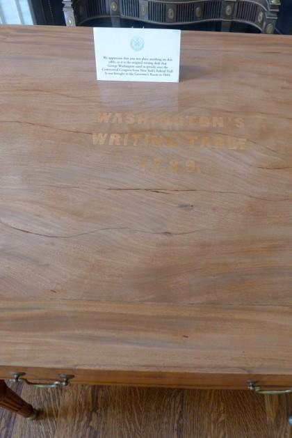 City Hall Washingtons Writing Table