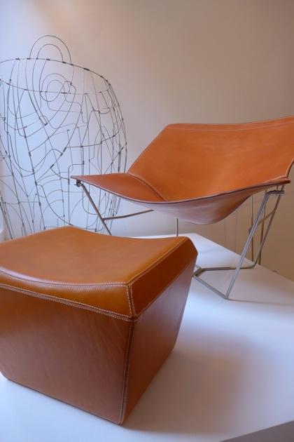 David Weeks Studio chair and ottoman