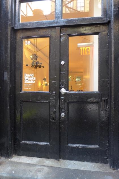 David Weeks Studio door