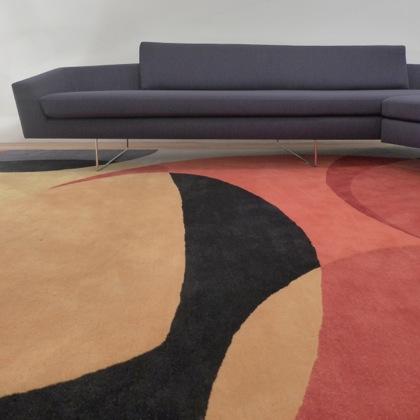 David Weeks Studio sofa and rug