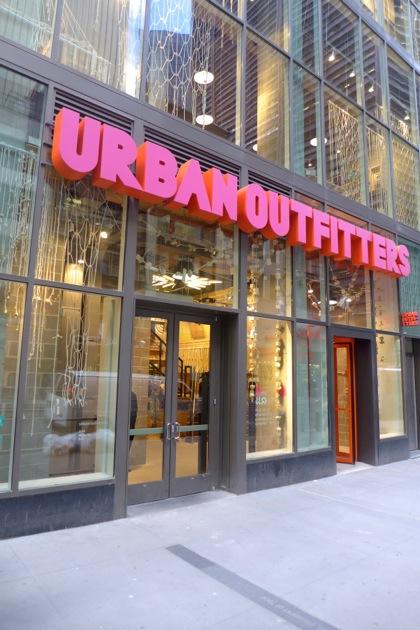 Urban Outfitters facade