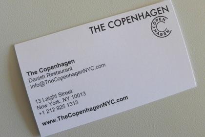 The Copenhagen business card