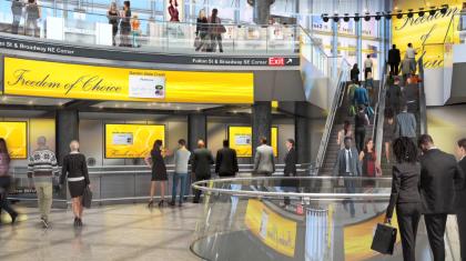 Fulton Center rendering advertising