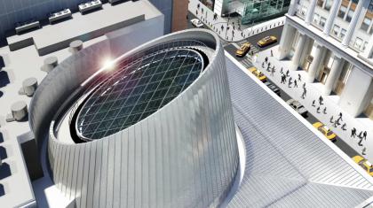 Fulton Center rendering aerial