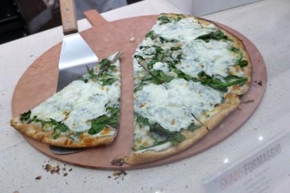 Brookfield Place Hudson Eats Skinny Pizza pizza