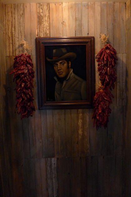 El Vez restroom Elvis
