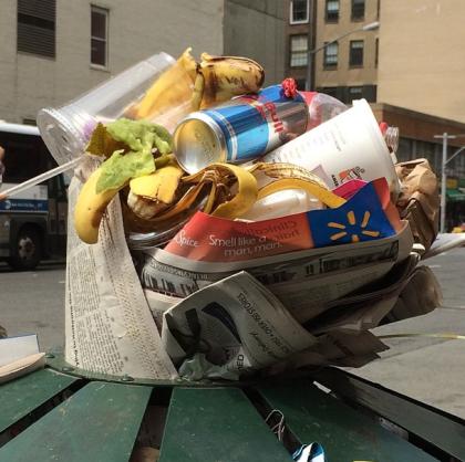 NYC trash bouquet