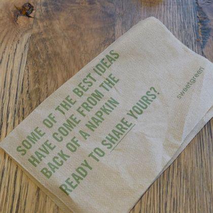 Sweet Green napkin